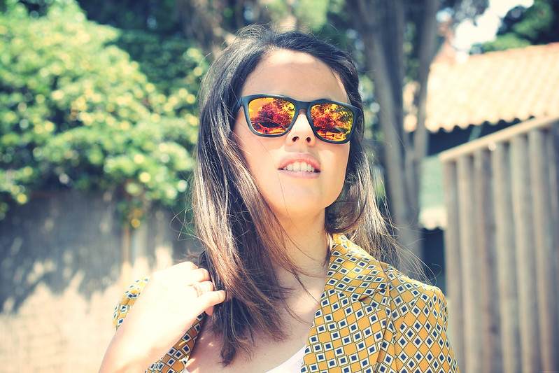 Look yellow blazer + New Balance - Monicositas