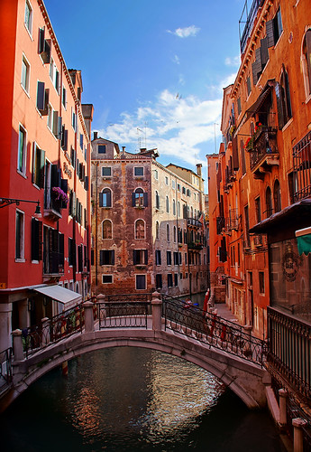 Small Canals in Venice Italy