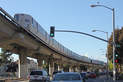 BART along MLK Way