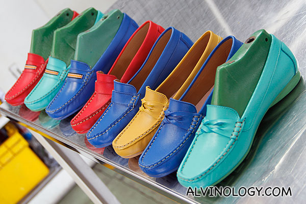 Colourful bata leather shoes