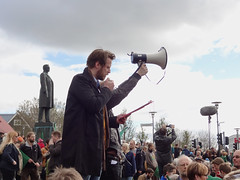 Green Protest in Reykjavik