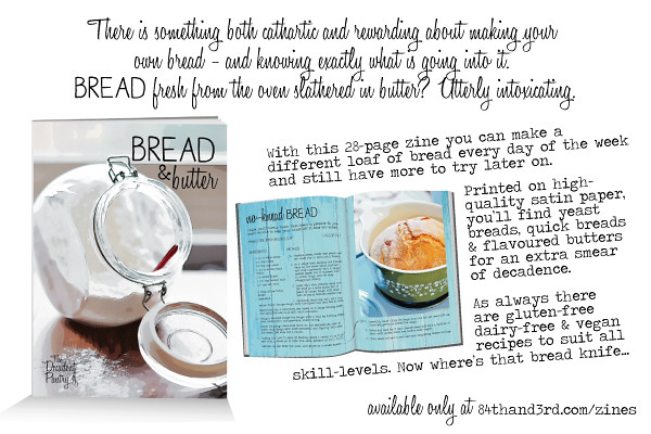 Bread & Butter recipe zine