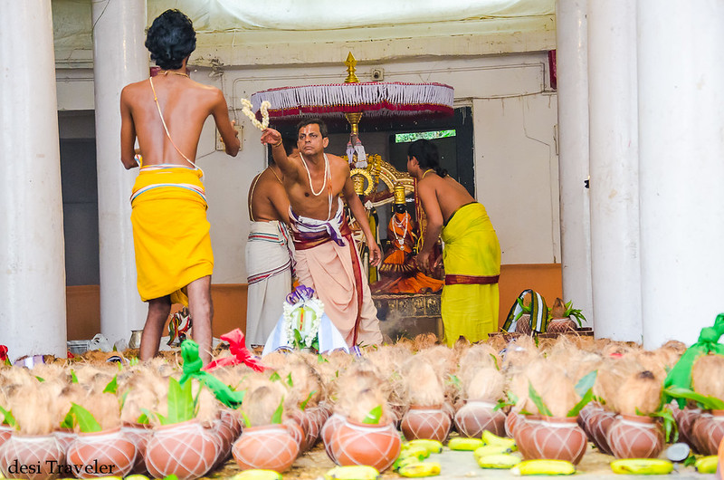 preparations for celebrations in sitaram bagh temple Hyderabad