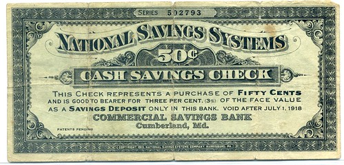 National Savings Systems 50 cents front