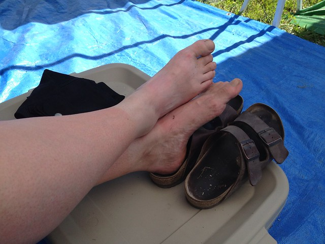 Bonnaroo 2013 - Dirty feet
