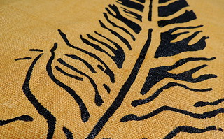 Detail of 007 - Stenciled Feather