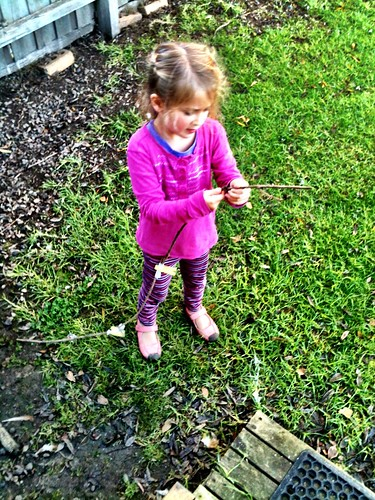 Z and her 'Hula-Hooper-Off-The-Roofer' stick...