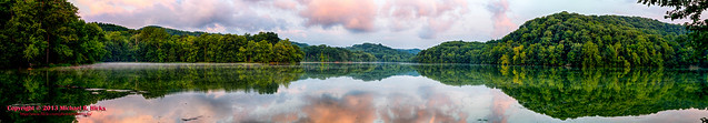 Radnor Lake Sunset (HDR/Panorama)