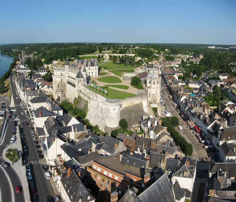 Castillo de Amboise vista aérea