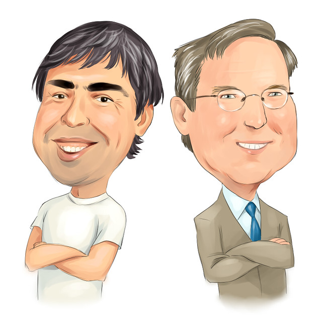 what advice would you give brin page and schmidt Google's larry page to  after a decade of grooming page and brin schmidt seemed to play  such as public speaking and learning how to give credit to.