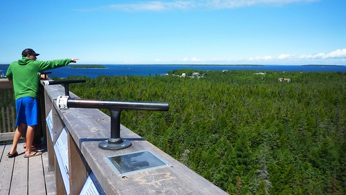 The view from the tower of the Bruce Peninsula