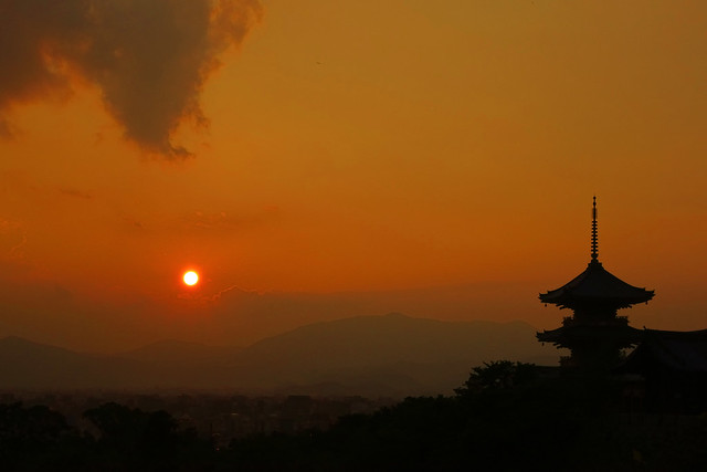 清水寺の日没