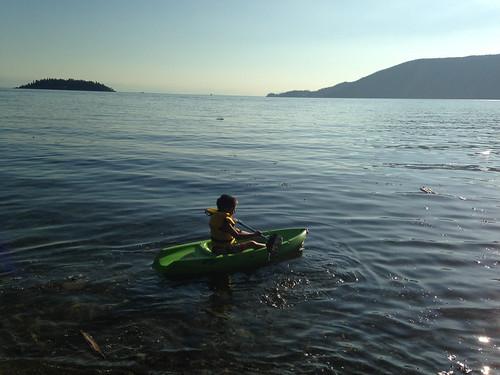 Scott in his kayak