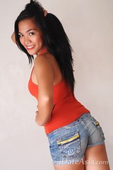 Sexy Philippines woman in red shirt