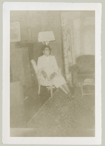 Woman and chair