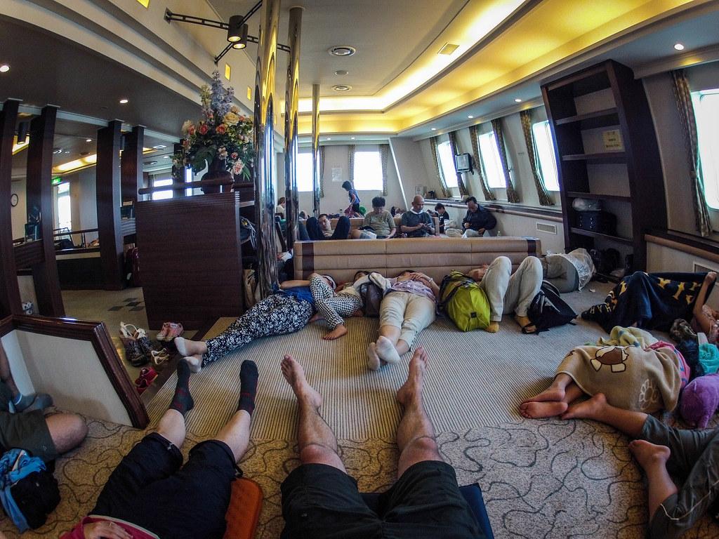 On the ferry from Rebun Island to Wakkanai, Japan