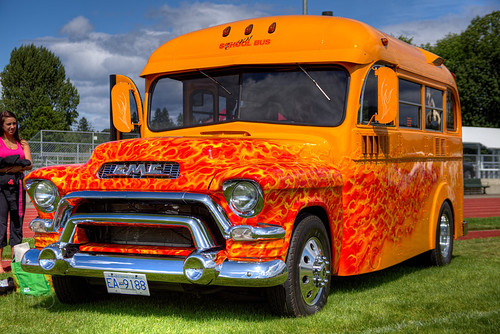 Classic Hot Rod School Bus – Duncan, BC, Canada