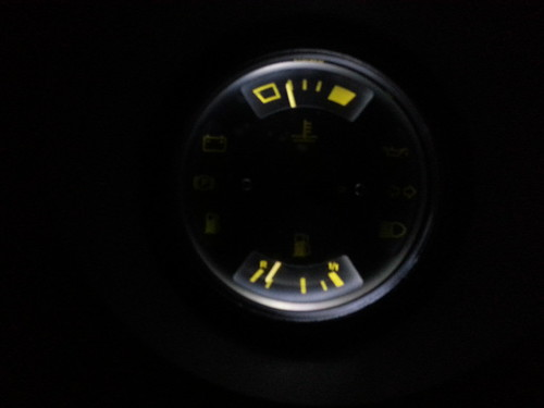 temperature gauge and gas gauge - led