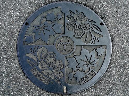 Takatori Nara , manhole cover (奈良県高取町のマンホール)