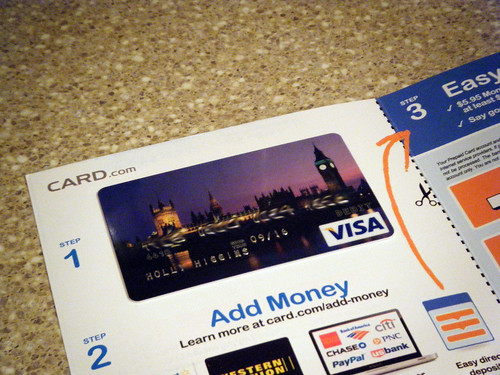 Visa prepaid cards from CARD.com