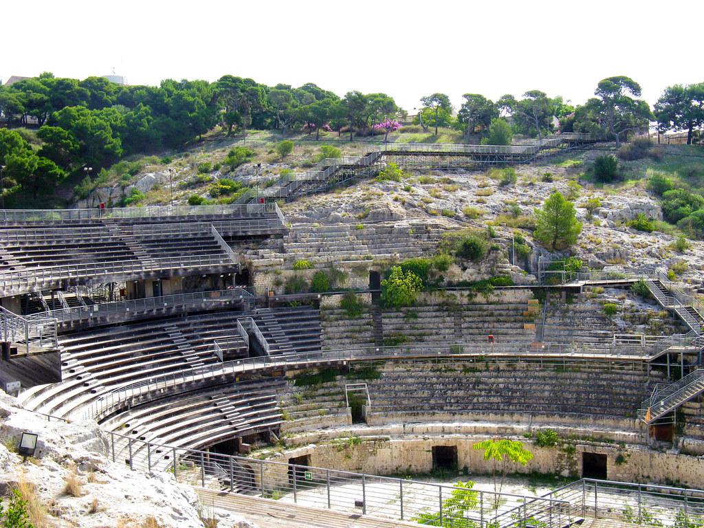 Afiteatro romano in Cagliari - Sardegna