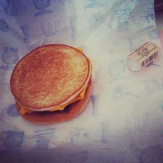 朝、マックトースト食いました。