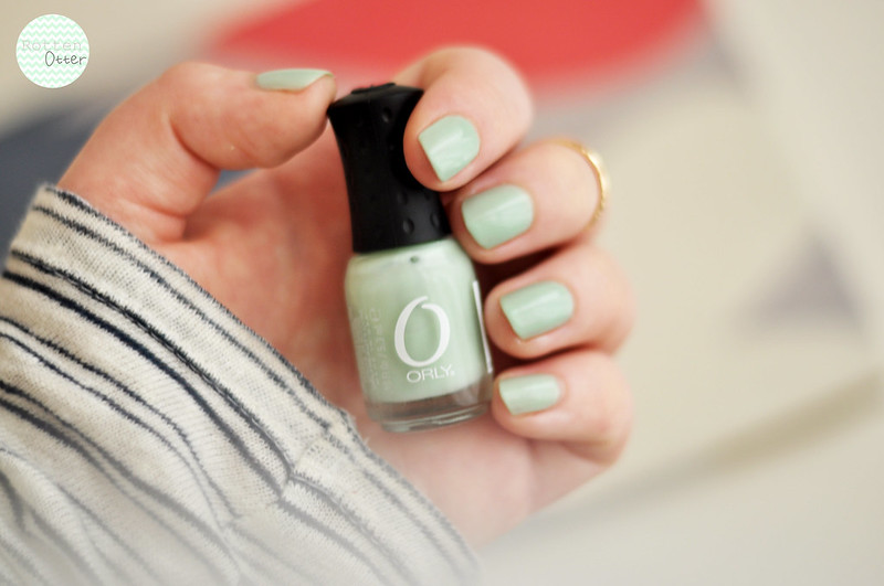 notd orly jealous much nail polish mint green creme rottenotter rotten otter blog 2
