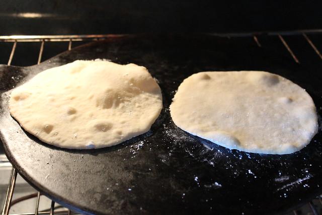 Transfer to hot Baking Stone