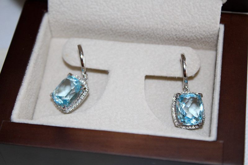 Princess earrings blue topaz