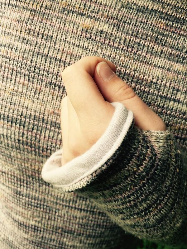 Hooded Sweaterknit W/Thumbholes