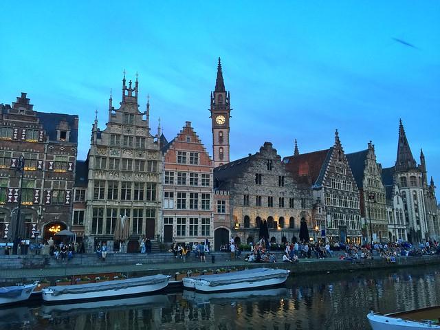 Graslei en Gante (Flandes, Bélgica)