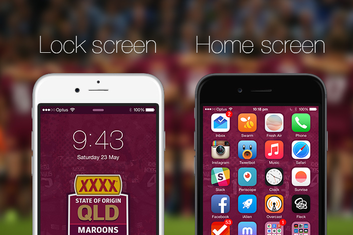 Queensland State of Origin iPhone 6 wallpapers