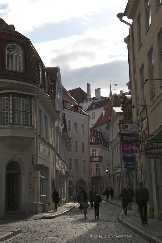 In the streets of Tallinn