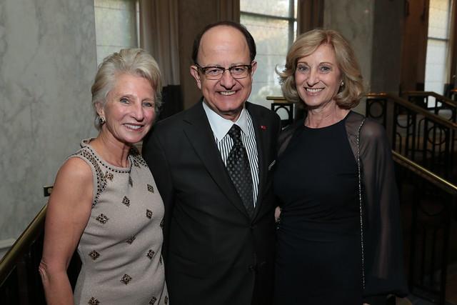 Wilson Center President Jane Harmon, USC President C. L. Max Nikias, and Mrs. Niki C. Nikias