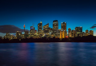 Sydney City Skyline at Dusk