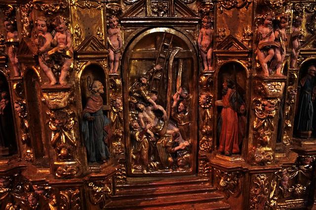 Monastero Suore Orsoline, Galliate (altare ligneo della chiesa doppia)