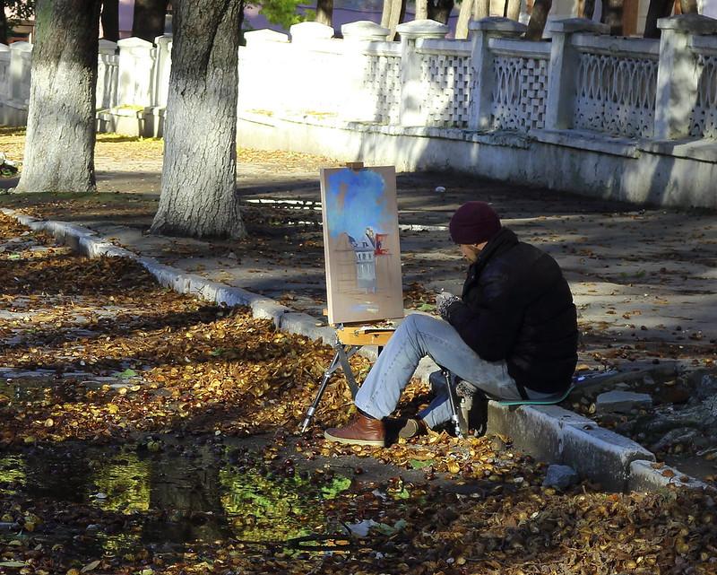 Kamianets-Podilskyi's Street Artist