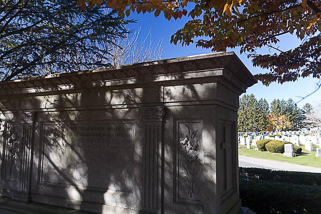 Kennedy Family Graves, Holyhood Cemetery, Chesnut Hill, MA, November 14, 2016