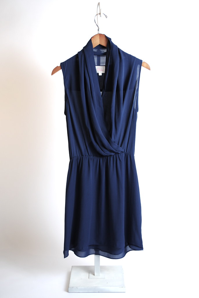 Drape Sleeveless Dress