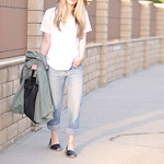 sun hat and jeans - avarcas-anorak and burberry bag