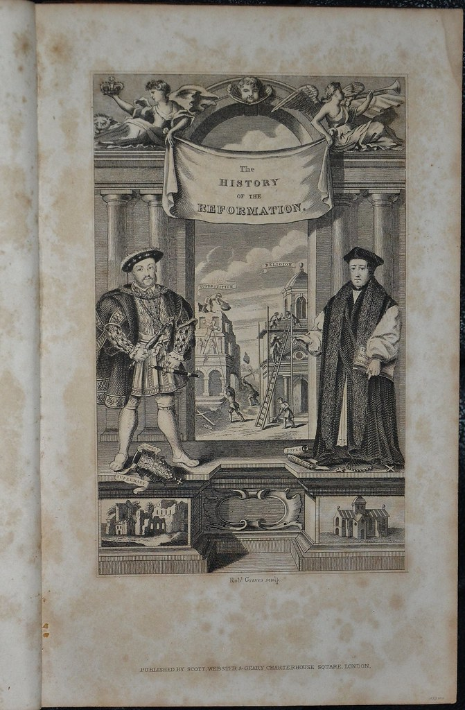 History of the Reformation by Burnet 1837 - engraved title page