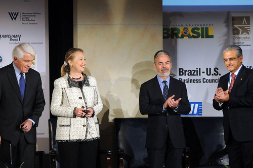 U.S. Chamber of Commerce President and CEO Donohue, Secretary Clinton, and Brazilian Foreign Minister Patriota Applaud the U.S.-Brazil Partnership