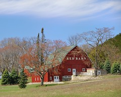 """Red Barn""   M-72 ~ Empire, Michigan by Michigan Nut"