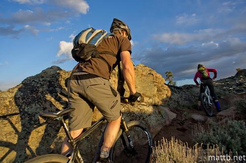 sunset sun mountain bike rocks ride sage trail mtb hartman sagebrush