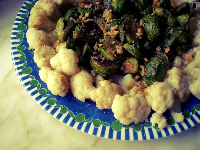 Brussels sprouts with cauliflower