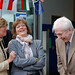 Juana Lahousse, Isabelle Durant and Willy Decourty share a joke
