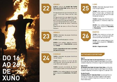Poio 2012 - Festas do San Xoán - programa