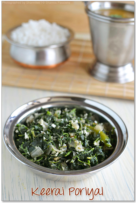 Keerai Poriyal (Greens Stir Fry) Recipe
