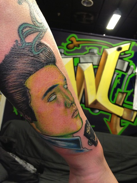 Zombie elvis tattoo by wes fortier flickr photo sharing for Zombie tattoo machine