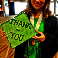 A graduating student showing off their cap! #Commencement #tulane #tulane13